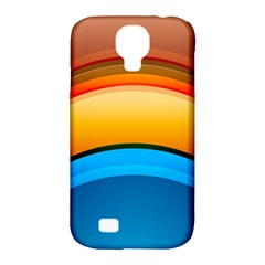Rainbow Color Samsung Galaxy S4 Classic Hardshell Case (PC+Silicone)