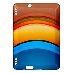 Rainbow Color Kindle Fire HDX Hardshell Case