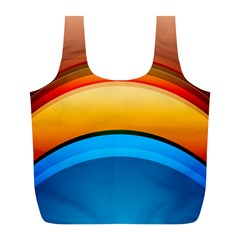 Rainbow Color Full Print Recycle Bags (L)