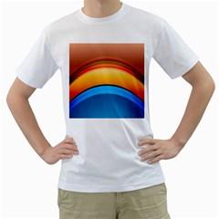 Rainbow Color Men s T-Shirt (White)