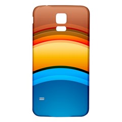 Rainbow Color Samsung Galaxy S5 Back Case (White)