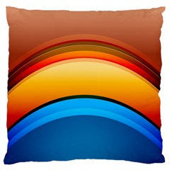 Rainbow Color Large Flano Cushion Case (Two Sides)