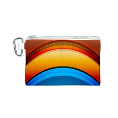Rainbow Color Canvas Cosmetic Bag (S)