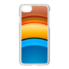 Rainbow Color Apple Iphone 7 Seamless Case (white)