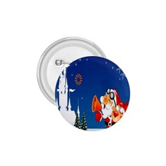 Santa Claus Reindeer Horn Castle Trees Christmas Holiday 1.75  Buttons