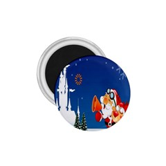 Santa Claus Reindeer Horn Castle Trees Christmas Holiday 1.75  Magnets