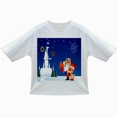 Santa Claus Reindeer Horn Castle Trees Christmas Holiday Infant/Toddler T-Shirts