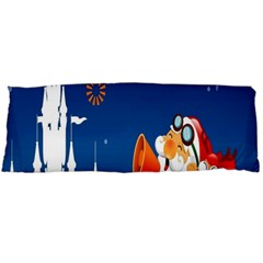 Santa Claus Reindeer Horn Castle Trees Christmas Holiday Body Pillow Case Dakimakura (Two Sides)