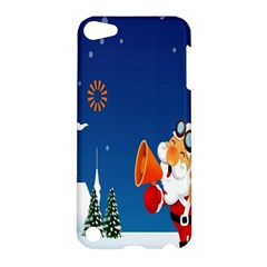 Santa Claus Reindeer Horn Castle Trees Christmas Holiday Apple iPod Touch 5 Hardshell Case