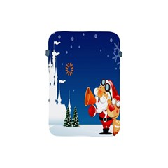 Santa Claus Reindeer Horn Castle Trees Christmas Holiday Apple iPad Mini Protective Soft Cases