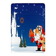 Santa Claus Reindeer Horn Castle Trees Christmas Holiday Samsung Galaxy Tab Pro 10.1 Hardshell Case