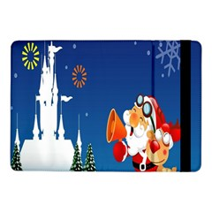 Santa Claus Reindeer Horn Castle Trees Christmas Holiday Samsung Galaxy Tab Pro 10.1  Flip Case