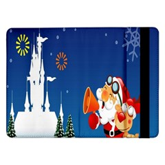 Santa Claus Reindeer Horn Castle Trees Christmas Holiday Samsung Galaxy Tab Pro 12.2  Flip Case