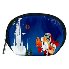 Santa Claus Reindeer Horn Castle Trees Christmas Holiday Accessory Pouches (Medium)