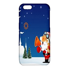 Santa Claus Reindeer Horn Castle Trees Christmas Holiday iPhone 6/6S TPU Case