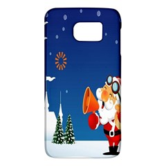 Santa Claus Reindeer Horn Castle Trees Christmas Holiday Galaxy S6