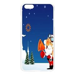 Santa Claus Reindeer Horn Castle Trees Christmas Holiday Apple Seamless iPhone 6 Plus/6S Plus Case (Transparent)