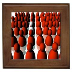 Red White Framed Tiles