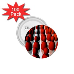 Red White 1.75  Buttons (100 pack)