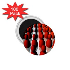 Red White 1.75  Magnets (100 pack)