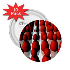 Red White 2.25  Buttons (10 pack)