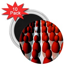 Red White 2.25  Magnets (10 pack)