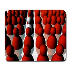 Red White Large Mousepads