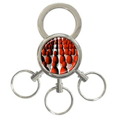 Red White 3-Ring Key Chains
