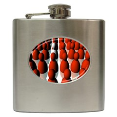 Red White Hip Flask (6 oz)
