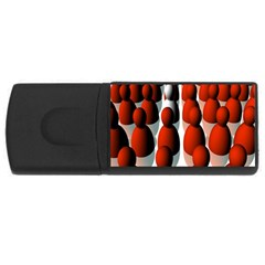 Red White USB Flash Drive Rectangular (1 GB)