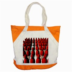 Red White Accent Tote Bag
