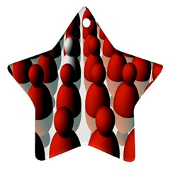Red White Star Ornament (Two Sides)