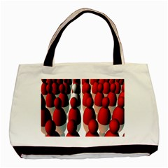 Red White Basic Tote Bag (Two Sides)