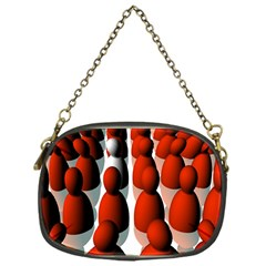 Red White Chain Purses (One Side)