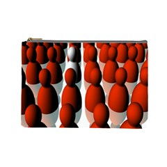 Red White Cosmetic Bag (Large)