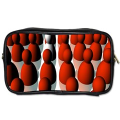 Red White Toiletries Bags 2-Side