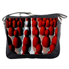 Red White Messenger Bags