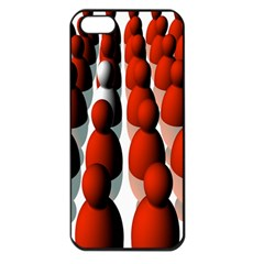 Red White Apple iPhone 5 Seamless Case (Black)