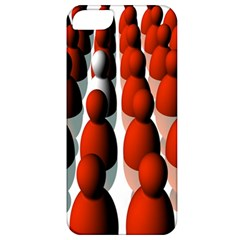 Red White Apple iPhone 5 Classic Hardshell Case