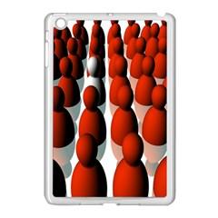 Red White Apple iPad Mini Case (White)