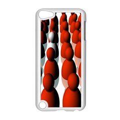 Red White Apple iPod Touch 5 Case (White)