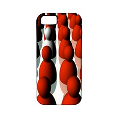 Red White Apple iPhone 5 Classic Hardshell Case (PC+Silicone)