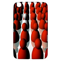 Red White Samsung Galaxy Tab 3 (8 ) T3100 Hardshell Case