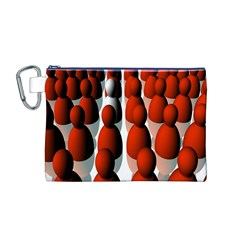 Red White Canvas Cosmetic Bag (M)