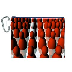 Red White Canvas Cosmetic Bag (XL)