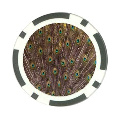 Purple Peacock Feather Wallpaper Poker Chip Card Guards