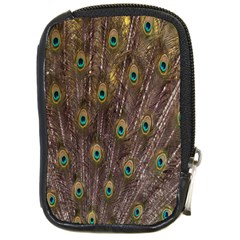 Purple Peacock Feather Wallpaper Compact Camera Cases