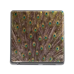 Purple Peacock Feather Wallpaper Memory Card Reader (Square)