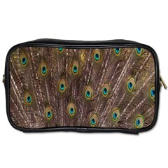 Purple Peacock Feather Wallpaper Toiletries Bags 2-Side