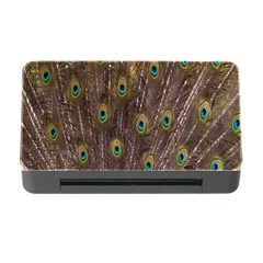 Purple Peacock Feather Wallpaper Memory Card Reader with CF